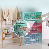 6 pcs/set Thicken Transparent Plastic Shoe Box Shoes Storage Artifact Shoe Storage Box shoe Organizer Thickened Drawer Box