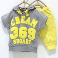 Summer kids boys clothing set 369 cream sugary clothes for boys T-shirt hoodie+shorts tracksuits boys clothes