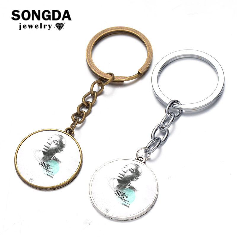SONGDA Soccer Star Thierry Henry France World Player Key Ring Top Quality Football Club Fans Metal Keychain Holder Souvenir Gift image