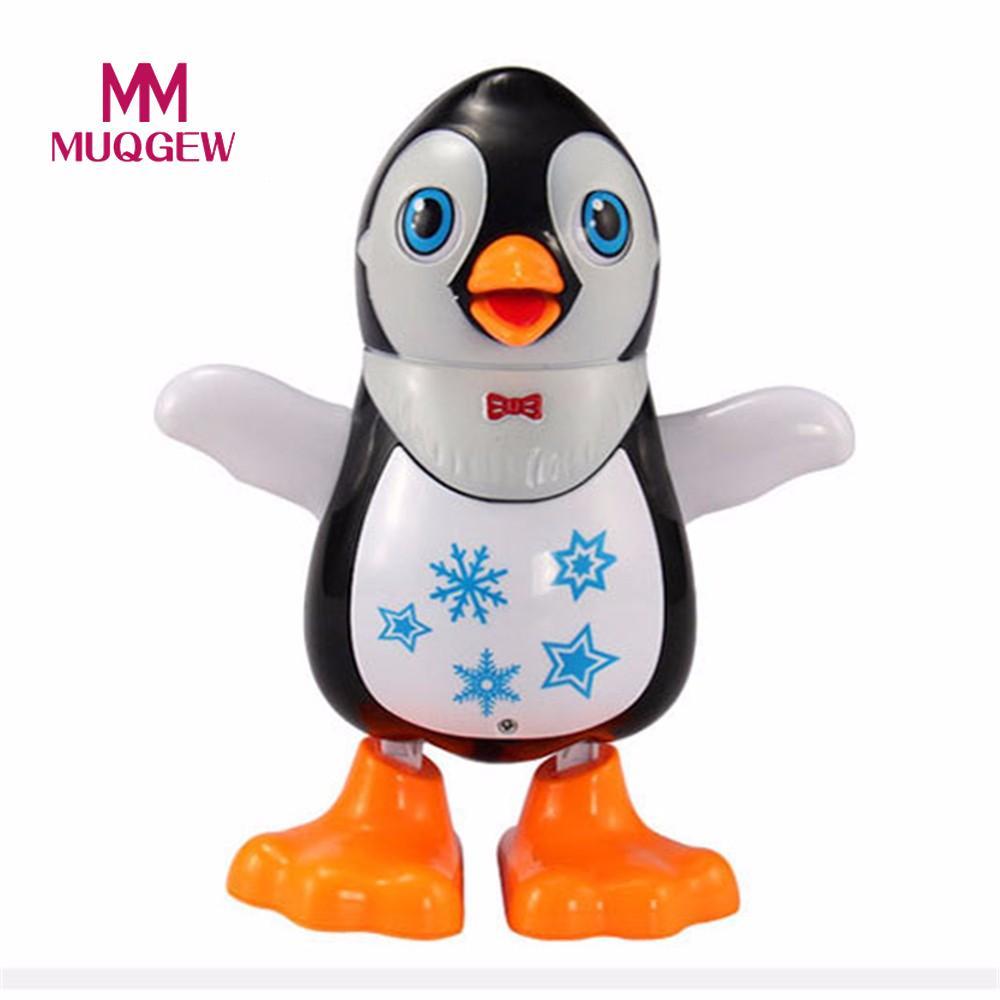 MUQGEW Electronic Toys Swing Music Light Dancing Penguin Toy For children Creative childrens penguinsi cartoon Birthday Gift