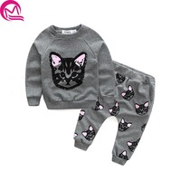 Children Sweater Girls Clothing Sets Thick Warm Sport Suit Kids Winter Long T Shirt Pants Hot
