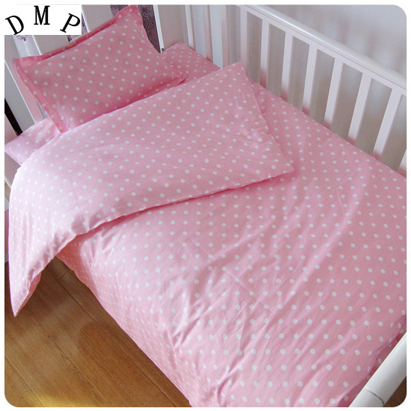 Promotion! 3PCS Cartoon  Baby Crib Bedding Set Kids Bedding Set Newborn Baby Bed Set ,Duvet Cover/Sheet/Pillow Cover,