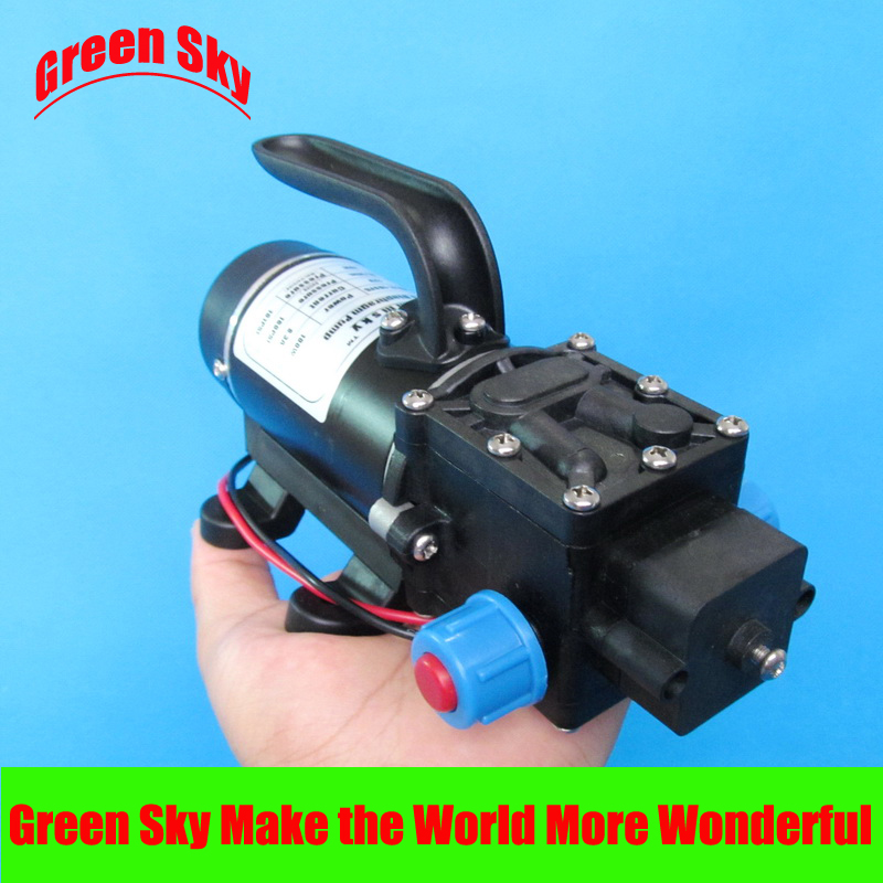 New Arrival return valve type with handle and cooling fan 8L/Min 24V DC 100W high pressure diaphragm pumpNew Arrival return valve type with handle and cooling fan 8L/Min 24V DC 100W high pressure diaphragm pump