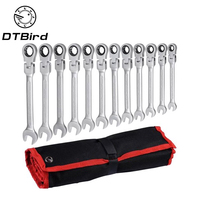 12pcs/lot Multitool Key Ratchet Spanners Set Ratcheting Combination Wrenches Universal Wrench Tool For Repair Car Tools 8 19mm