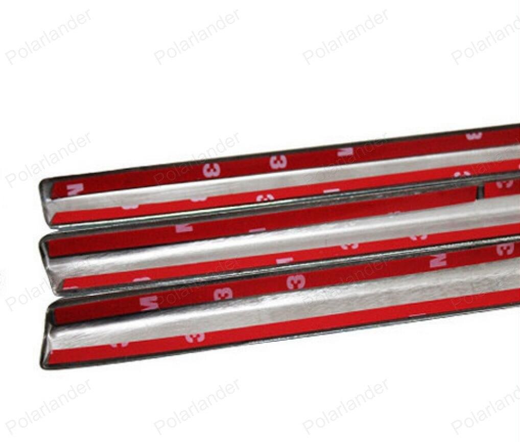 Hot verkopen Voor BMW X5 Vensterversiering Rvs Decoratie Strips Auto Accessoires Styling zonder kolom - 2