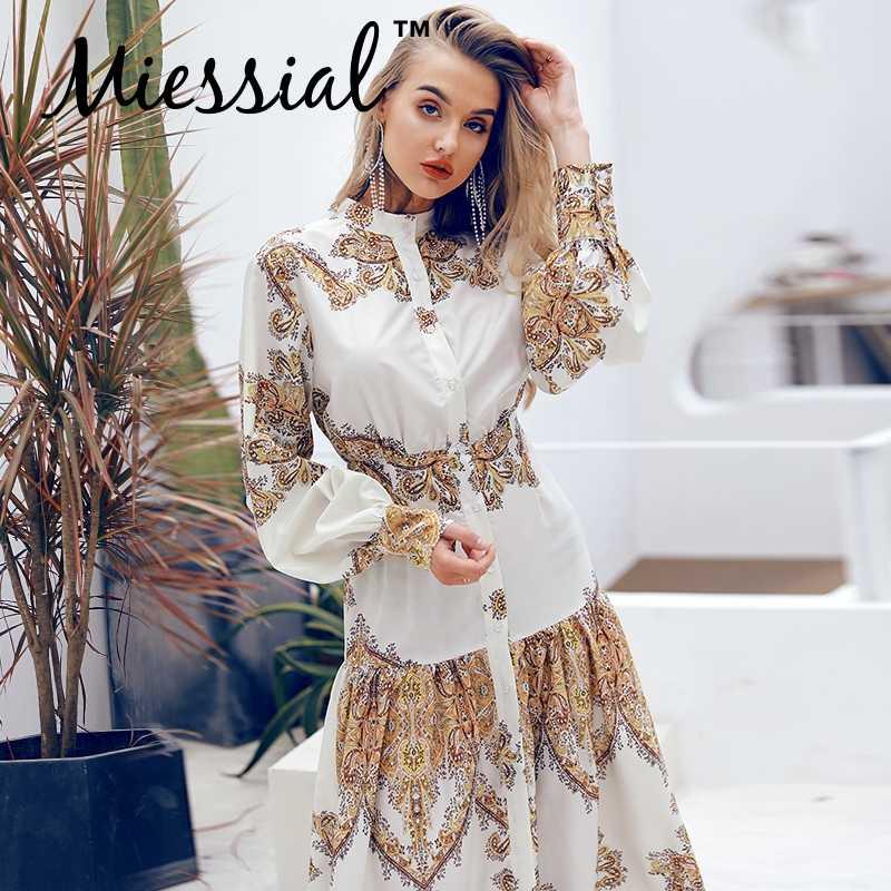 Miessial blanc élégant vintage femmes chemise robe dames automne à manches longues maxi boho robe hiver sexy plage fête robe de nuit