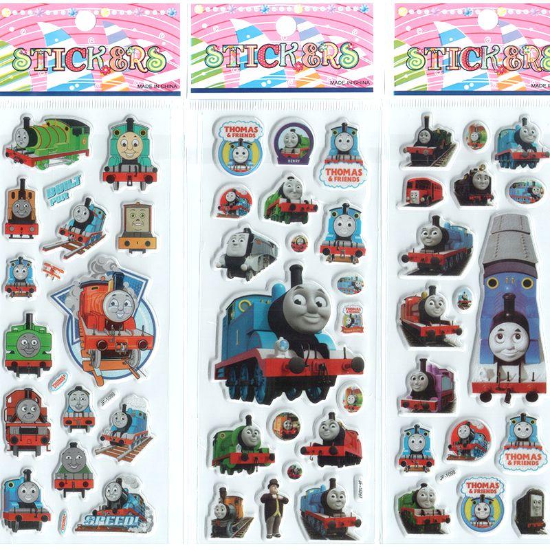 3PCS lot Mixed Cartoon Bubble Stickers Thomas the Train