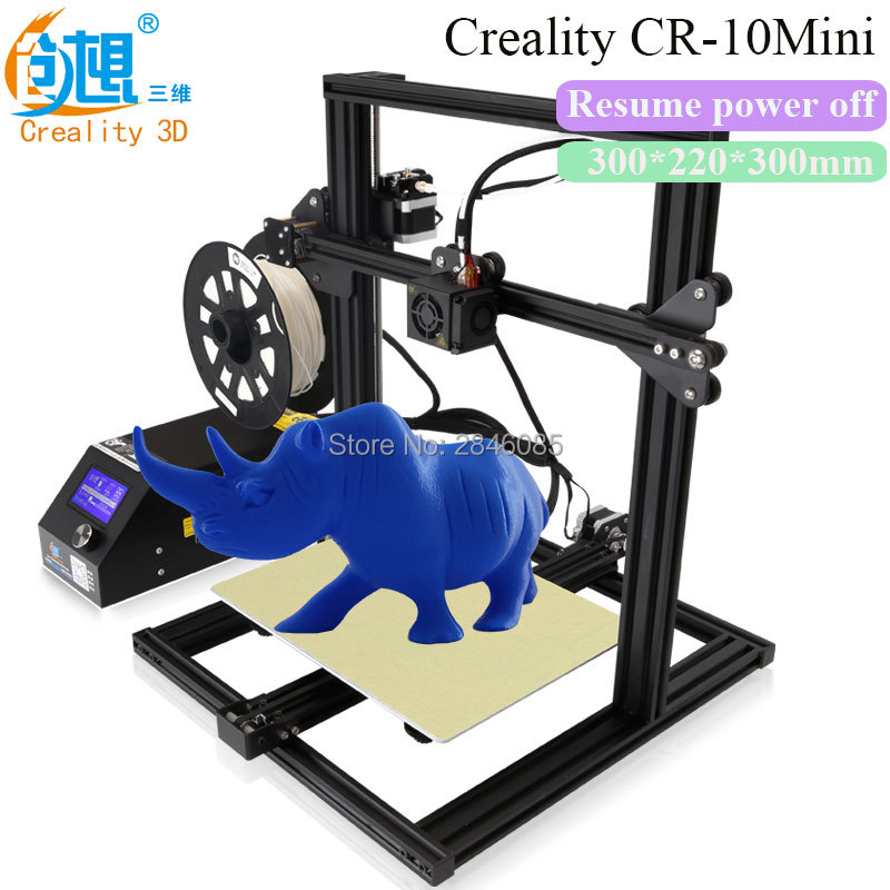 Creality 3D CR-10 Mini 3D Printer Resume power off With Aluminum Heated Bed High-precisio Free Testing Filament+Free Tool Set full metal frame heated bed 3d printer professional 3d color printer with 2gb sd card lcd 40m filament for free