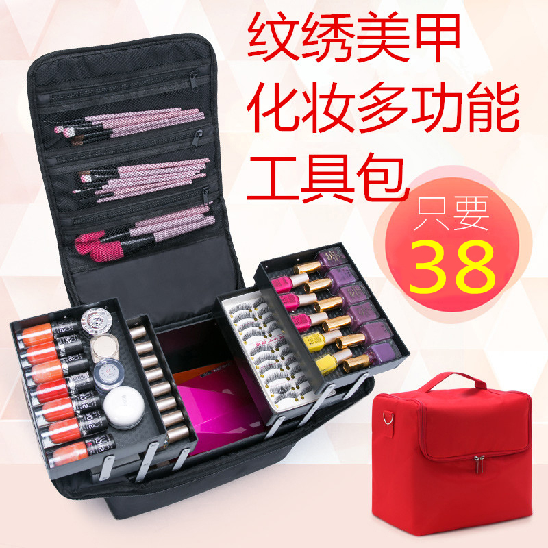 large capacity Cosmetic bag makeup bag Waterproof wash bag ,NICE 11types