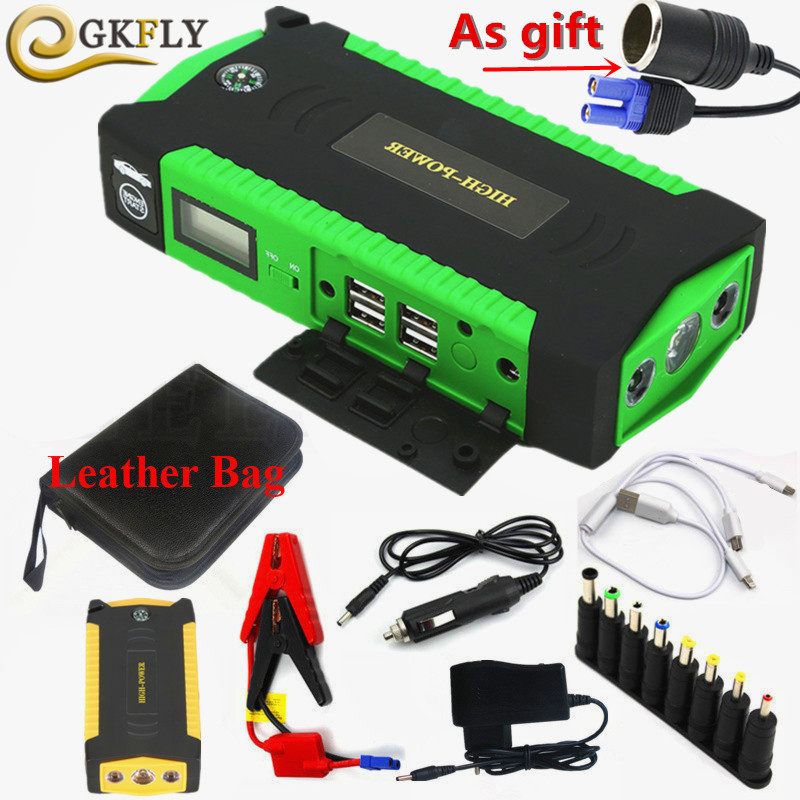 High Capacity Starting Device 12V 600A Multi-Function Car Jump Starter Car Charger For Car Battery Booster Buster Power Bank LED