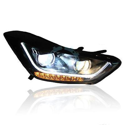 LED Strip Headlights LED Turn Light  For Hyundai Elantra/Avante i35 2011-2015 free shipping leather car floor mat carpet rug for hyundai elantra avante i35 fifth generation 2011 2015