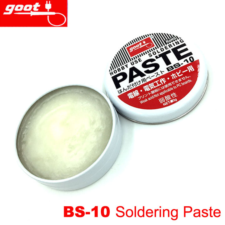 Original Japan GOOT BS-10 Hobby Use Resin Solder Paste NW.10g Weak Acid Welding Flux