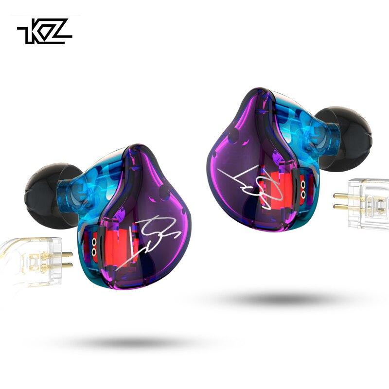 KZ Знч Pro Арматура двойной драйвер наушников съемный кабель В Ухо Аудио мониторы шум изоляции HiFi музыка спортивные наушники
