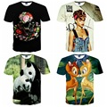 High quality big boy loose short sleeve round neck 3d animal and character pattern print 3d model boy t shirt 14-20 years old