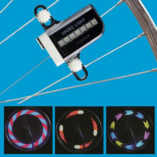 1pcs New Arrival 14 LED Motorcycle Cycling Bicycle Bike Wheel Signal Tire Spoke Light 30 Changes Drop Shipping
