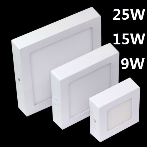 9W 15W 25W LED Surface Ceiling Light Squaer Panel LED Down Lamp AC85-265V Warm White Natural White Cold White LED Indoor Light9W 15W 25W LED Surface Ceiling Light Squaer Panel LED Down Lamp AC85-265V Warm White Natural White Cold White LED Indoor Light