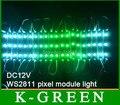 20X de alta qualidade 5050smd sonho cor WS2811 LED pixel módulo luz à prova d' água IP67 frete grátis