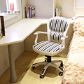 European pastoral style computer chair office chair student staff home white book furniture chairs