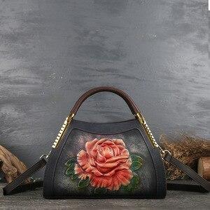 Image 3 - Johnature hakiki deri Vintage kabartma kadın çanta 2020 yeni moda rahat kadın dana eğlence omuz ve Crossbody çanta