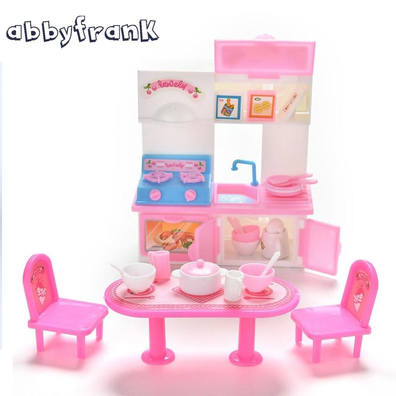 abbyfrank bambole accessori da cucina 20 pzset bambole stoviglie da cucina in miniatura lavabi fornello a gas tavolo stoviglie