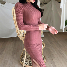 Bodycon Dress Female Knitted