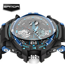 SANDA Waterproof Alarm Mens Watches Top Brand Luxury Digital Led Sports Watch Men Clock Male Wrist Watch Relogio Masculino 2017