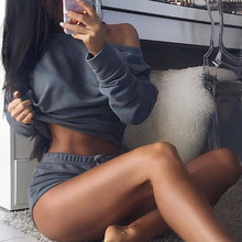 hiringin New Tracksuit women set Lady 4 colors shorts and top