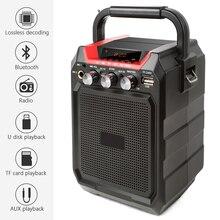 Ituf портативный Bluetooth динамик беспроводная 3D Звуковая система стерео музыкальный сабвуфер поддержка AUX FM TF микрофон дистанционное управление