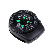 25mm Mini Plastic Portable Precision Watch Band Clip-on Navigation Wrist Compass for Survival Camping Hiking Navigation Tool bronze pattern compass gold dial quartz pocket watch navigation for camping hiking travel emergency survival tool