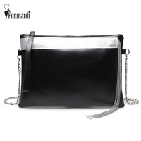 Luxury Metal Tassel Design PU Leather Clutch Bag Vintage Fashion Women Bag Star Style Messenger Bag
