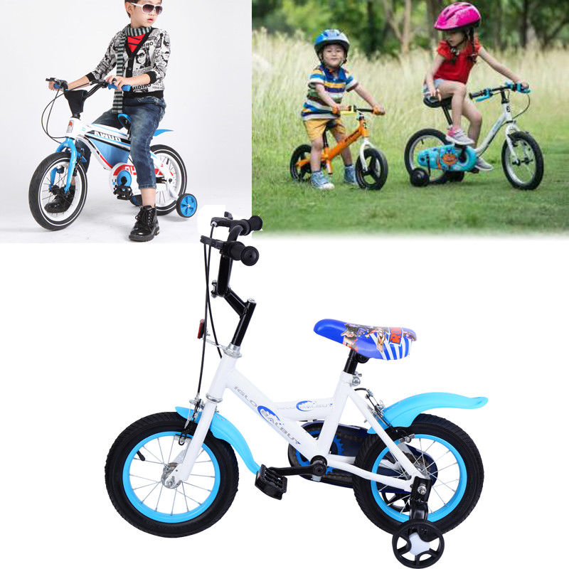 12 Children Kid's Bicycle Bike Boy BMX Blue Bicycle For 3-6 years old child Baby children ride on toys balance bike three wheels tricycle for kid bicycle baby walker for 1 to 3 years old child best gift