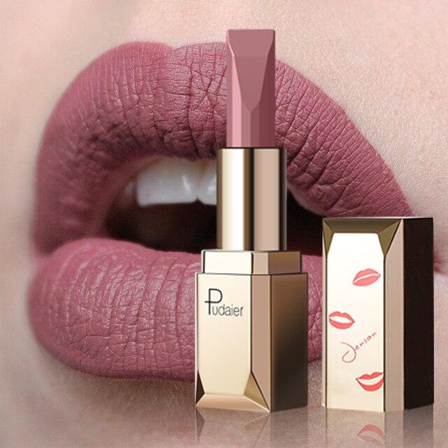 Pintalabios Mate rojo desnudo de 26 colores a prueba de agua de larga duración lápiz labial para labios Mate para maquillaje las mujeres