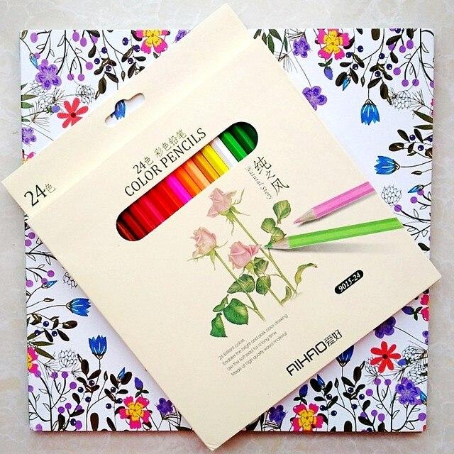 Caliente 96 páginas Friendly bosque colorear + 24 piezas lápiz de ...