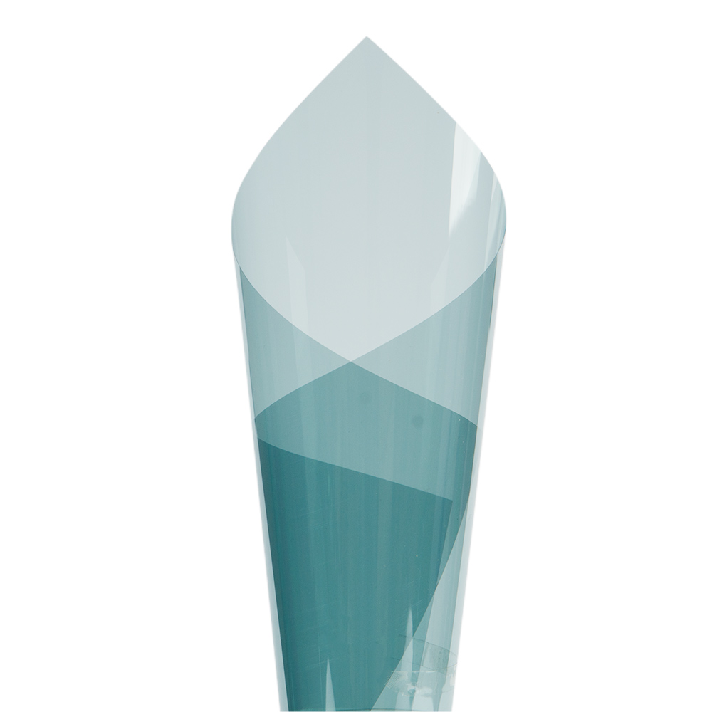 Feuille teintée solaire de protection Anti-UV bleu clair de 1 m x 10 m VLT 65% utilisée sur les feuilles de rouleau de verre de voiture/bureau/maison