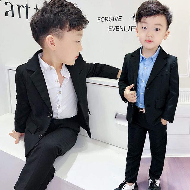 331bee5391 Child Suit black color good quality school boys Prom Suit 2-10 years old  kids Wedding Costumes Slim and gentle