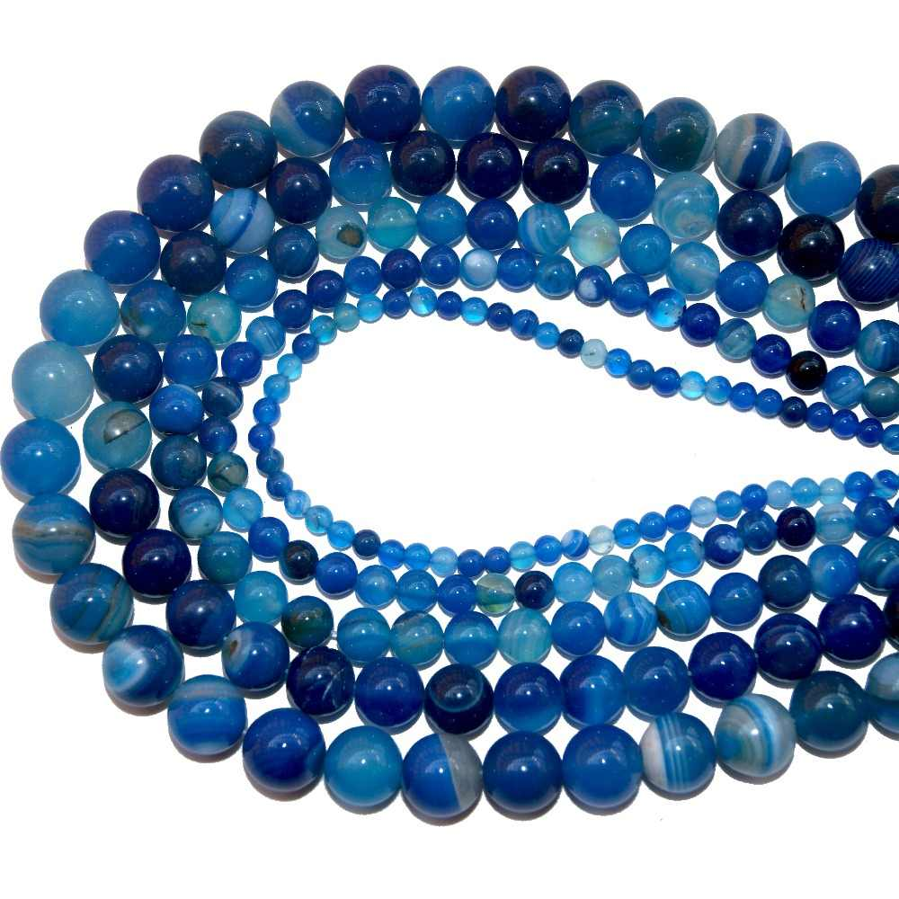 4 6 8 10 MILLIMETRI Misto di Pietra Naturale Pietre Turchesi Perline di Pietra Allentati Perline di Pietra Allentati Per Fare FAI DA TE Braccialetto collana Dei Monili