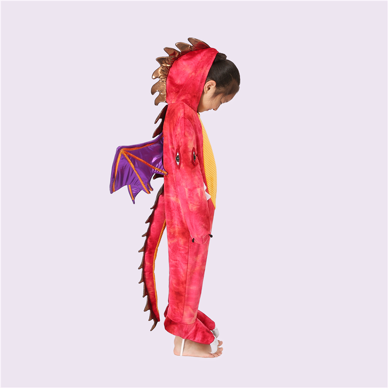 Cute Dinosaur Jumpsuit Onesies Costume Kids Cosplay Jurassic Park Animal Clothes Role Play for Halloween Costumes Cosplay