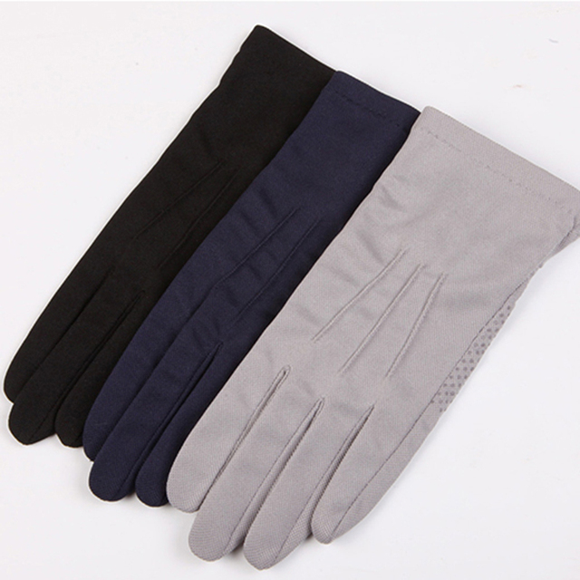 2020 Summer Sun Protection Gloves Male Thin Breathable Anti-Slip Driving Gloves Anti-UV Full Fingers Man Mittens SZ105W1 4