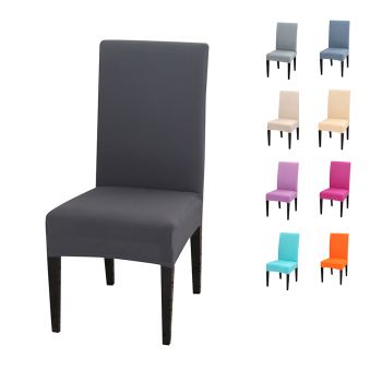 Solid Color Chair Cover of Spandex Material with Elastic for Dining Room and Wedding Hall
