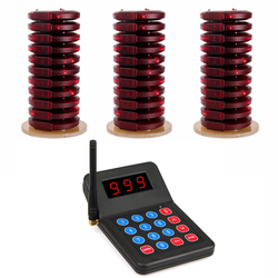 999 Channel Restaurant Pager Beeper Wireless Paging Queuing Calling System Buzzer Quiz For Cafe Shop Church Restaurant Equipment
