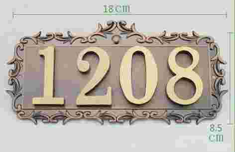 Four Digits House number Pure copper word Household villa house Archaize street number,gate number 3 digits new classical european style pure copper house number card villa apartment number four digits free shipping