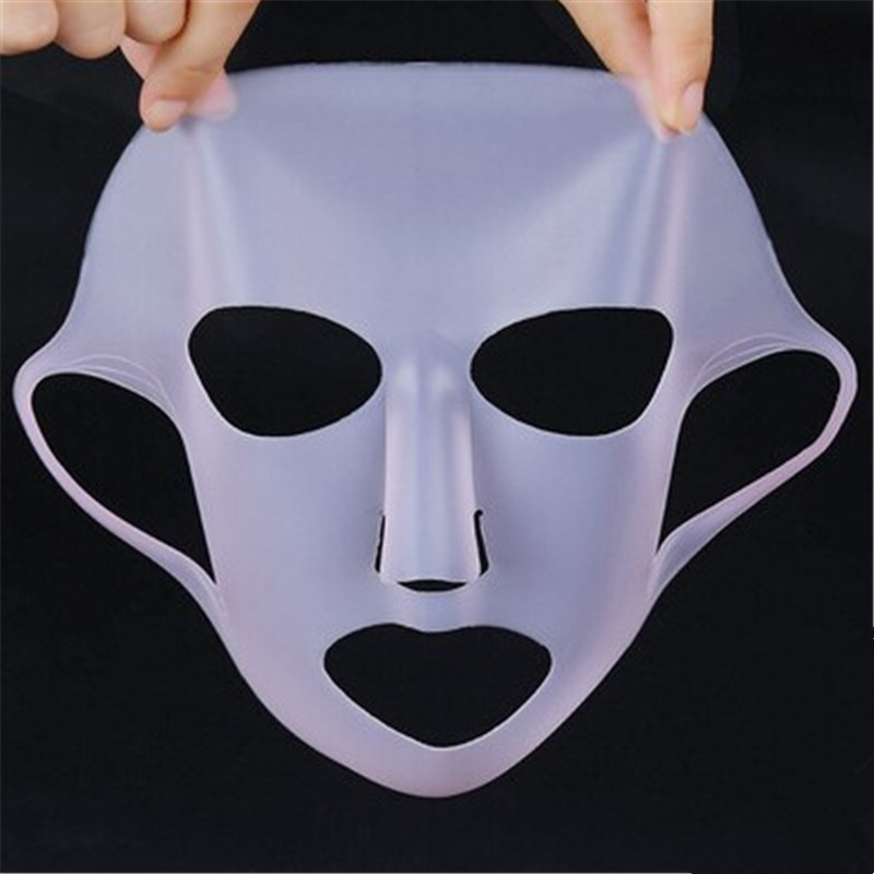 1PC Reusable Silicone Face Skin Care Mask Cover For Sheet Mask Prevent Evaporation Steam Reuse Waterproof Pink/White Beauty Tool