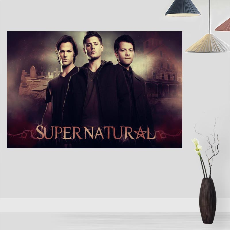 New Arrival  Supernatural Posters On The Wall Modern VerticalHorizontal Rectangle Poster Silk Fabric Cloth Wall Art Unframed