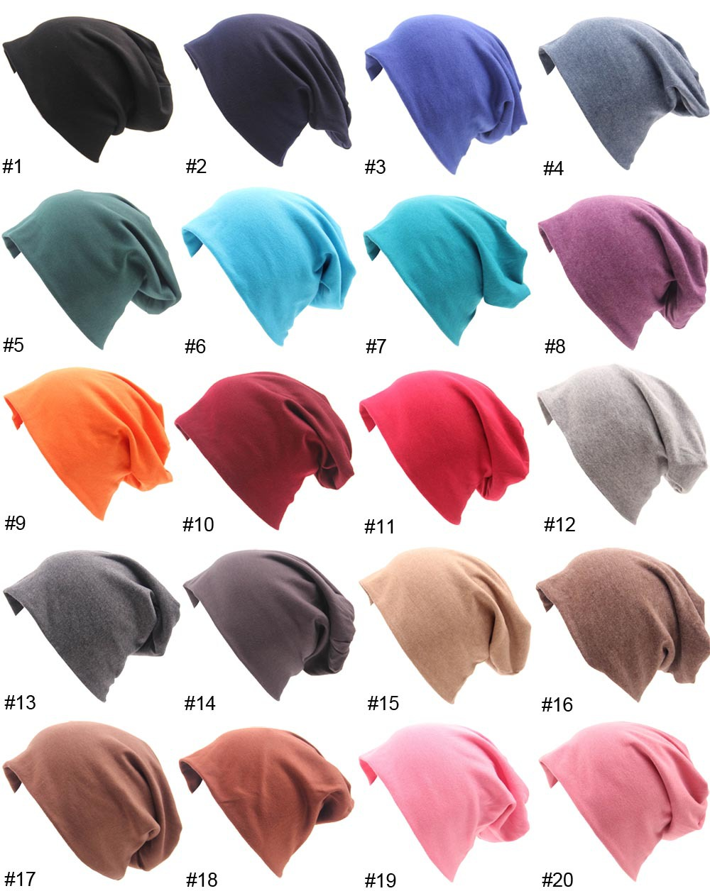 37c83de098a Norvin Street Hip Hop Women Cap Knitted Cotton Hair Accessories Elastic 18  Colors Hat for Girl New Summer 2017 Gift top-in Skullies   Beanies from  Apparel ...