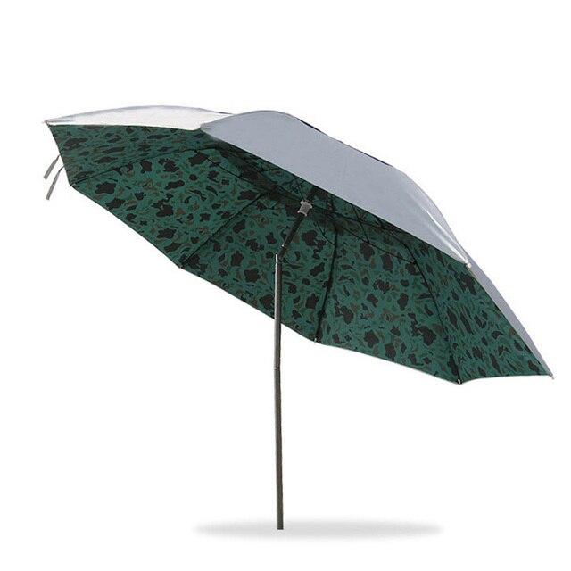 Three Folding Umbrella Lightweight Uv Sunshade Fishing Camouflage Parasol Patio Garden Rainproof