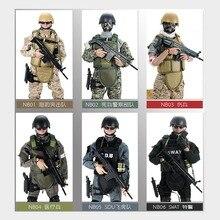 """新! 1 個 12 """"1/6 swat sduシール制服軍事陸軍戦闘ゲームおもちゃ兵士で設定されたボックスアクションフィギュアモデルおもちゃ"""