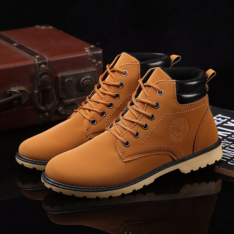 YWEEN Men Leather Boots Autumn Winter High Style Waterproof Fashion Outdoor Work Shoes Casual Martin Boot For Man Hot Sale 29