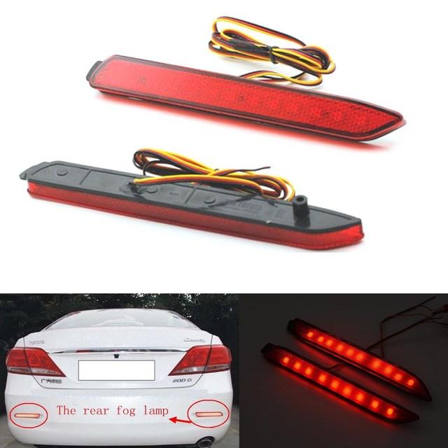 2 Pcs LED Vermelho Da Cauda Do Carro Lâmpada Luz de Nevoeiro Luzes de Freio de Estacionamento Traseiro Refletor para Toyota Camry/Innova/Lexus ISF/GX470/RX300