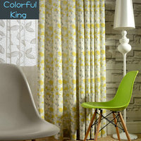 Leaves Pattern Window Curtains Blackout for Living Room Kitchen Bedroom Treatment Green Blue Elephant Flowers Drapes