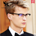 SUPER SUNG spectacle eyeglasses frame hand made ebony retro half frame glasses with tide and glasses 1012